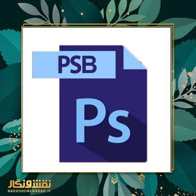انتخاب فرمت psb در فتوشاپ